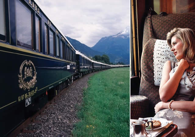 Londres para Paris via Inglaterra no Trem Orient Express