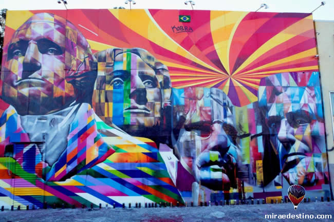 Eduardo Kobra - mural Monte Rushmore - Los Angeles
