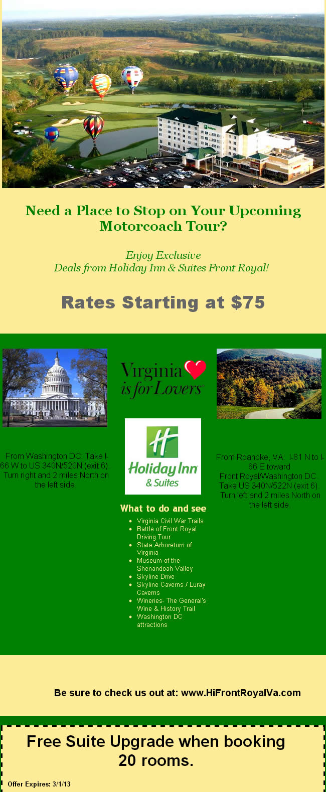 Special Deals from Holiday Inn & Suites Front