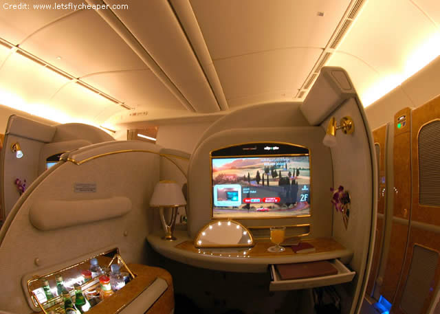 Emirates Airlines A380 First Class-Bangkok to Hong Kong