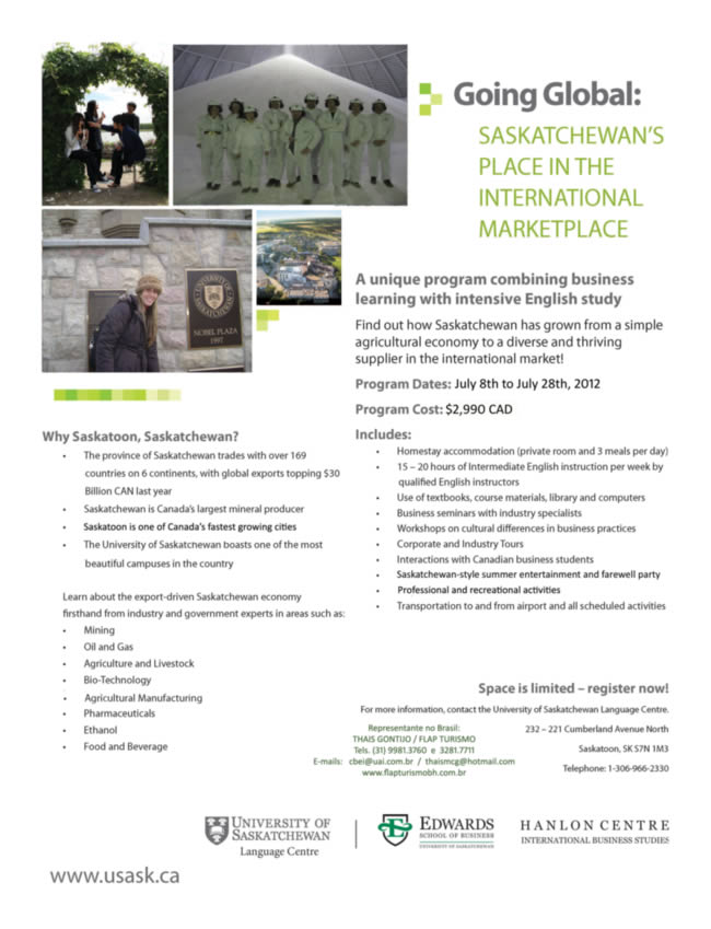 GOING GLOBAL da UNIVERSITY OF SASKATCHEWAN