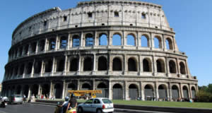 Roman Colosseum ( Coliseum or Flavian Amphitheatre ), is a large amphitheatre in the city of Rome. The Colosseum of ancient Rome, named one of seven Wonders of the World, became a prototype for modern stadiums.
