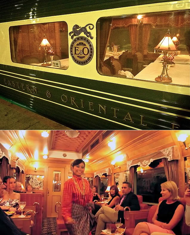 Bangkok to Singapore on the train luxury Eastern & Oriental Express